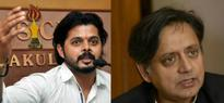Former Cricketer Sreesanth Cant Take A Criticism Engages In A War Of Words With Shashi Tharoor On Twitter
