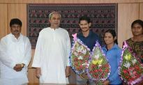 Odisha CM felicitates Sudarshan Pattnaik, Amiya Mallick, Dutee Chand and Purnima Hembram