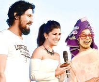 Spotted: Randeep Hooda, Nimrat Kaur, Pammi Aunty at an event in New Delhi