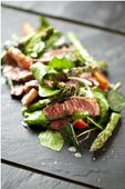 Recipe: Marcus Bean's Beef and asparagus salad with honey dressing, radishes and cherry tomatoes