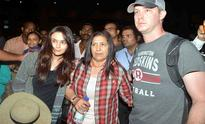 Home again: Preity Zinta, husband Gene Goodenough return to Mumbai; in time for reception
