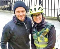 David Beckham surprises paramedic with tea, coffee while she treats patient