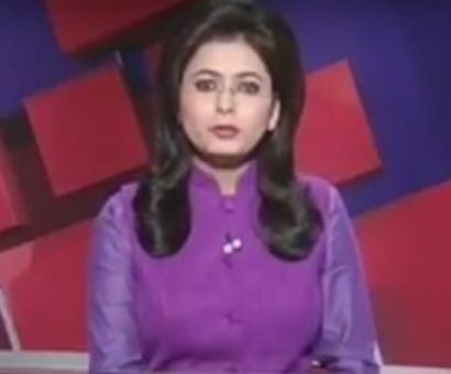 On live TV, anchor reads news of husband's death in accident