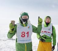 Japanese runners among hardened few to take on ice marathon