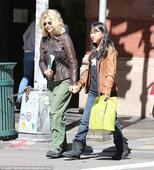 Meg Ryan goes shopping for books with daughter Daisy True in Soho