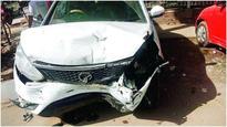 3 cops injured as speeding sedan rams PCR van, 2 arrested