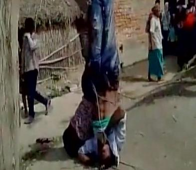 In Bihar, men hung upside down for stealing chairs