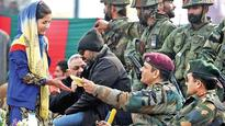 Hundreds turn up to watch Dhoni at Army-sponsored cricket match