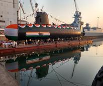 Indian Navy's second Scorpene submarine Khanderi launched