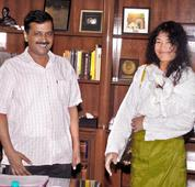 Sharmila takes lessons from CM