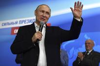 Vladimir Putin strides to victory in Russian Presidential election, thanks supporters