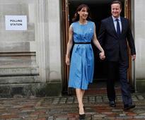 David Cameron votes in EU referendum
