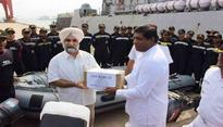 India sends three Navy ships to assist Lanka in relief operations