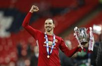 Manchester United's Ibrahimovic strikes twice to win League Cup