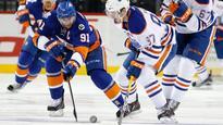 Okposo's hat trick helps Islanders crush Oilers 8-1