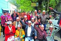 AAP protests against Jaitely, demands resignation