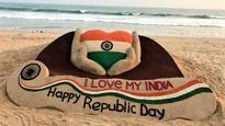 Odisha's sand artist creates sculpture to mark 68th Republic Day