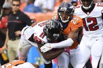Broncos, Falcons differ on why Julio Jones got shut down