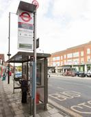 TfL trials battery-powered bus stop display screen delivering live travel information