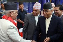 Ruling, opposition leaders stress elections at UML tea party
