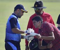 SEE PIC: Fan trespasses to get MS Dhoni's autograph, what happens next will AMAZE you