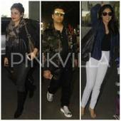 Karan Johar, Raveena Tandon and Shriya Saran get papped at the airport!