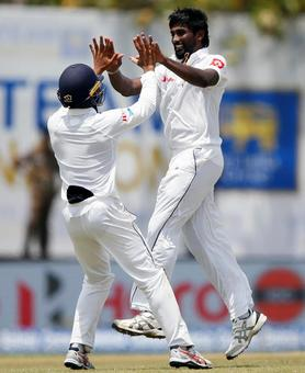 Pradeep over the moon after taking Kohli's wicket