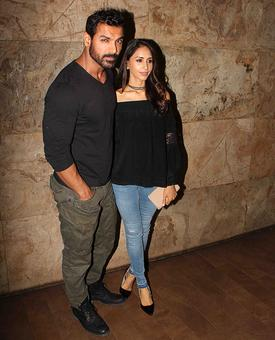 PIX: John Abharam, wife watch Dishoom