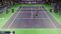 This might be the most ridiculous tennis shot you've ever seen