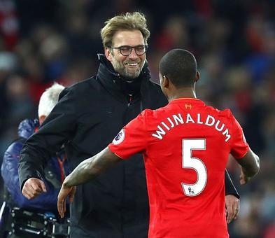 EPL: Wijnaldum header gives Liverpool win over Man City