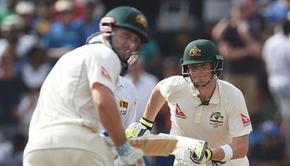 Australia launch strong reply after Chandimal ton