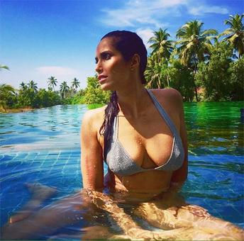 Padma Lakshmi holidays in Goa