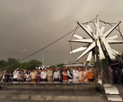PHOTOS: Delhi gets another giant charkha