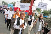 Senior citizens take to the streets demanding respect to work