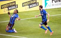 Drogba scores fourth goal of season in Montrea... Montreal Impact forward Didier Drogba (11) celebrates his goal against Phila...