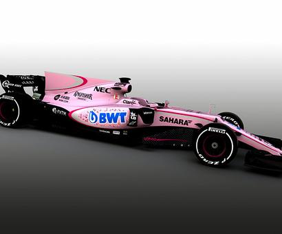 Mallya's Force India go pink for 2017 F1 season