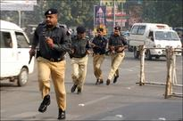 Police officers clash outside Punjab Assembly