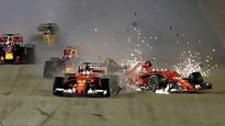 WATCH | Formula 1 | Singapore GP: Christmas comes early for Lewis Hamilton as Ferraris crash at starting grid