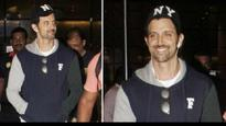 Unfazed by Kangana Ranaut's controversial remarks, Hrithik Roshan is all smiles!