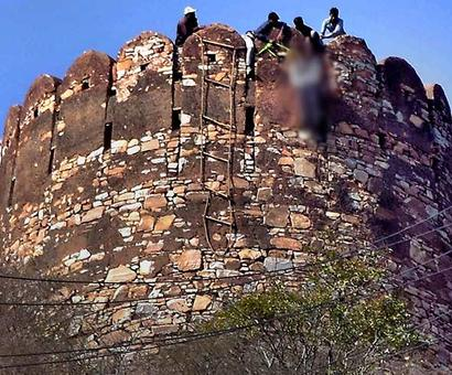 Body found with Padmavati note at Jaipur fort not murder