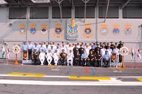 Affiliation of INS Vikramaditya with the Bihar Regiment and no. 6 Squadron, Indian Air Force