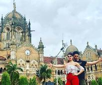 Sidharth and Jacqueline strike a pose outside iconic Chhatrapati Shivaji Terminus!