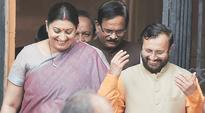 Smriti goes from HRD to Textile in massive reshuffle