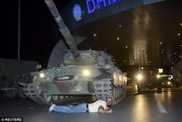 British tourists 'stay indoors' as Turkish military seized control in coup