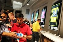 The media attends the launch of the new Nokia Lumia 920 and 820 Windows smartphones on September 5, 2012 in New York City.