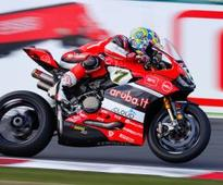 Davies does the double for Ducati at French WSBK
