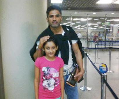 Spotted: Suniel Shetty at Mumbai airport