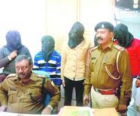 Five criminals nabbed