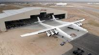 Paul Allen's rocket launching plane, the Stratolaunch rolls out of the hangar for first time