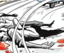 Man washing bus gets crushed by speeding car